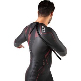 Zone3 Aspire Wetsuit Heren, black/gun metal/red